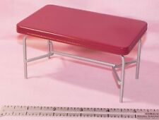 Dollhouse Miniature Table Red Vintage Style Kitchen 1:12 Scale