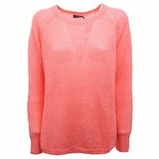 B6472 maglia donna POLO RALPH LAUREN traforata lino corallo sweater woman