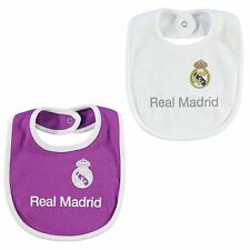 Real Madrid Football Team 2 Pack Bibs Babies White/Pink Soccer La Liga