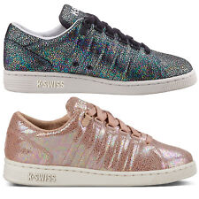 K-Swiss Designer Womens Iconic Lozan III TT IRDSCNT Trainers Shiny Lace Up Shoes
