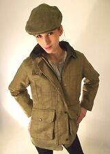 New Tweed Jacket Matching Flat Cap Green Ladies Fitted Fashion Riding Sports