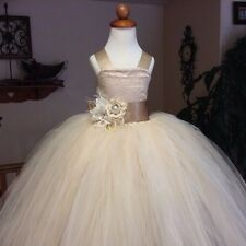ABITO DA SERA CERIMONIA BAMBINA  FESTA RAGAZZA TUTU SFERA MATRIMONIO PARTY DRESS