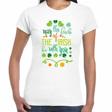 May The Luck Of Irish BE WITH YOU - Camiseta de mujer - SAN DÍA Patricks Regalo