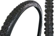"PAIR MTB TYRES 26x1.75""CHUNKY OFF ROAD MOUNTAIN BIKE TREAD SUIT 26 x 1.90 or1.95"