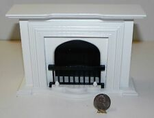 Dollhouse Miniature Fireplace White Minis 1:12 Scale