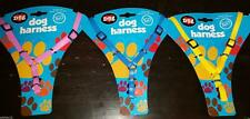 Dog Puppy Chihuahua Small Vinyl Y Harness Pink Yellow Blue Soft Touch