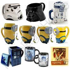 CHARACTER MUGS KIDS GIFT - MINIONS, STAR WARS, DR WHO TARDIS, PUSHEEN