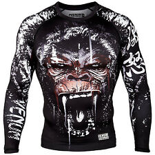 Venum Gorilla MMA Grappling Long Sleeve Rashguard Training Sparing Fight Wear