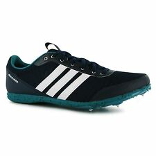 adidas Distance Star Athletics Running Spikes Mens Nvy/Wht/Grn Trainers Sneakers