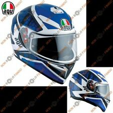 Casco moto Integrale K-3 SV E2205 MULTI PULSE  White/Black/Blue
