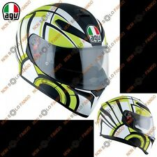 Casco moto Integrale K-3 SV E2205 MULTI AVIOR Matt White/Lime
