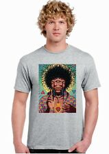 Jimmy Hendrix t-shirt 3D Effetto psy rockstar gruppo musicale t-shirt stampato