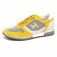 90300 sneaker uomo HOGAN H198 SLASH H FLOCK giallo grigio shoes men