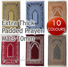 Extra padded 10mm Luxury Prayer Mat Rug Turkish Sponge Muslim Janamaz gift Islam
