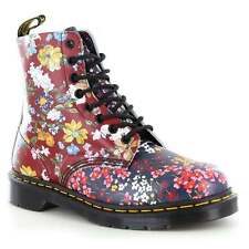 Dr Martens Pascal Floral Clash Womens Leather 8-Eyelet Boots Multi