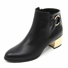 B7422 tronchetto donna HOGAN H272 stivaletto nero boot shoe woman