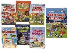Kids Make Your Own Book Farm, Truck, Seaside, Fairy, Fire Engine, 7 Designs NEW