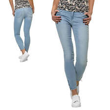 Only Jeans da donna Pantaloni Stretch Denim Skinny Fit Casual Moda Blu NUOVO