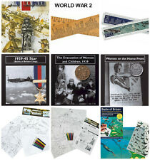 World War 2 Activity Packs replica medal coins , Artefacts stickers History WW2