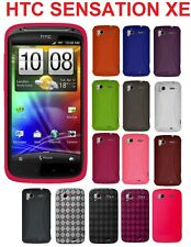 AMZER Silicone Jelly Skin Case Soft Gel TPU Snap on Cover For HTC Sensation / XE