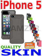 AMZER Soft Silicone Skin Jelly Case Gel Back Protective Cover For iPhone 5 Only