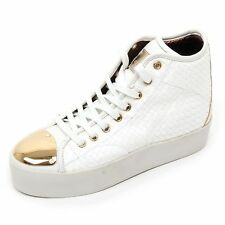 B6636 sneaker alta donna ALEXANDER SMITH LONDON scarpa bianco shoe woman