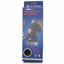 YC KNEE SUPPORT WITH STRAYS NEOPRENE ADJUSTABLE GYM SPORTS