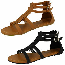 SALE Ladies Spot On Tassle Sandals - F0968