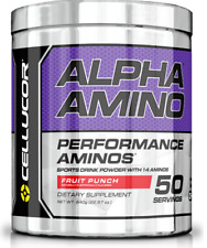 Cellucor Alpha Amino BCAA Intra Workout 50 Servings - Amino Acids Leucine Powder