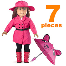 American Girl Doll Clothes, Yeshow Rain Coat Doll Clothes for 18