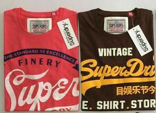 Superdry Tshirt Combo Offer - Pink & Brown