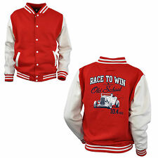 Varsity Giacca College Auto Vintage Race Sportiva Speed Shop Rockabilly 1060