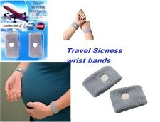 New SICKNESS MOTION TRAVEL ANTI NAUSEA MORNING SICK WRIST BAND CAR SEA PLANE
