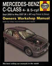 Mercedes Benz C-class Petrol and Diesel Service and Repair Manual: 2000 to 2007…