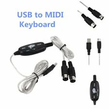 New USB to Midi Interface Piano Music Keyboard Cable Adapter Converter for PC HT