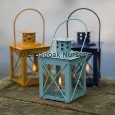 Nautical Mini Lantern Tealight Holder, Hanging Metal & Glass Candle Holder