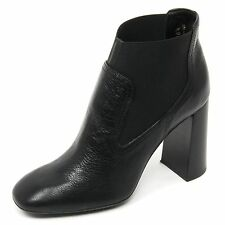 B9030 tronchetto donna TOD'S gomma T95 scarpa nero shoe boot woman