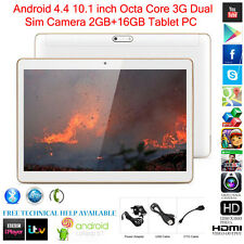 "Tablet da 10,1"" PC Octa-Core 2GB+16GB Android 4.4 3G WI-FI Dual SIM"
