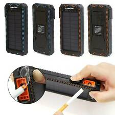 15000mAh Solar Power Bank Cigarette USB External Battery Charger For Smart Phone