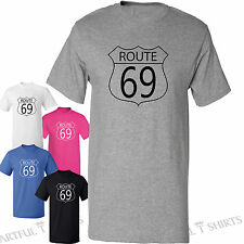 Route 69 rude printed T Shirt for Hen party or Stag do ideas abroad S M L XL 2XL