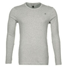 G-star Raw round-Neck base crew LS langarm-shirt grau D07204 124 906
