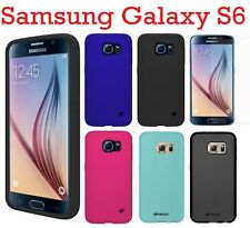Amzer Silicone Skin Jelly Case Cover Screen Guard For Samsung Galaxy S6 SM-G920