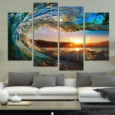 Framed Beach Canvas Print Surf Ocean Wave Painting Art Wall Home Decor Picture