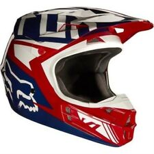 Fox 2017 Hombre Motocross / casco MTB - V1 FALCON - rojo-blanco Enduro MX