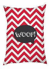 One Bella Casa Chevron Woof Talk Bubble Outdoor Dog Bed, 30 by 40-I