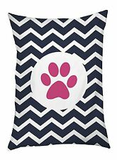 One Bella Casa Chevron Circle Paw Print Outdoor Dog Bed, 30 by 40-I