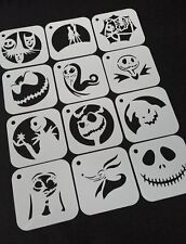 Set of 6pcs or 12pcs NIGHTMARE BEFORE CHRISTMAS Airbrushing Painting Stencils