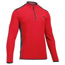 Mens Red Under Armour Coldgear Infrared Quarter Zip Fleece Red Only £42.99