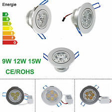 Dimmable 9W 12W 15W LED Ceiling Cabinet Downlight Lamp Lampadine Warm/Cool White