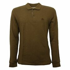 C0832 maglia uomo BURBERRY marrone/verde melange polo t-shirt polo men